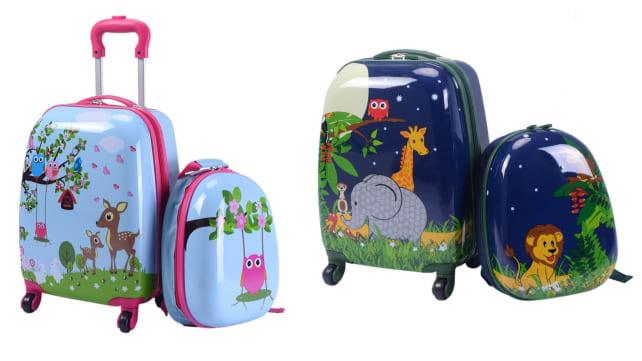 Goplus Kids Upright Hard Side Carry On Luggage Set