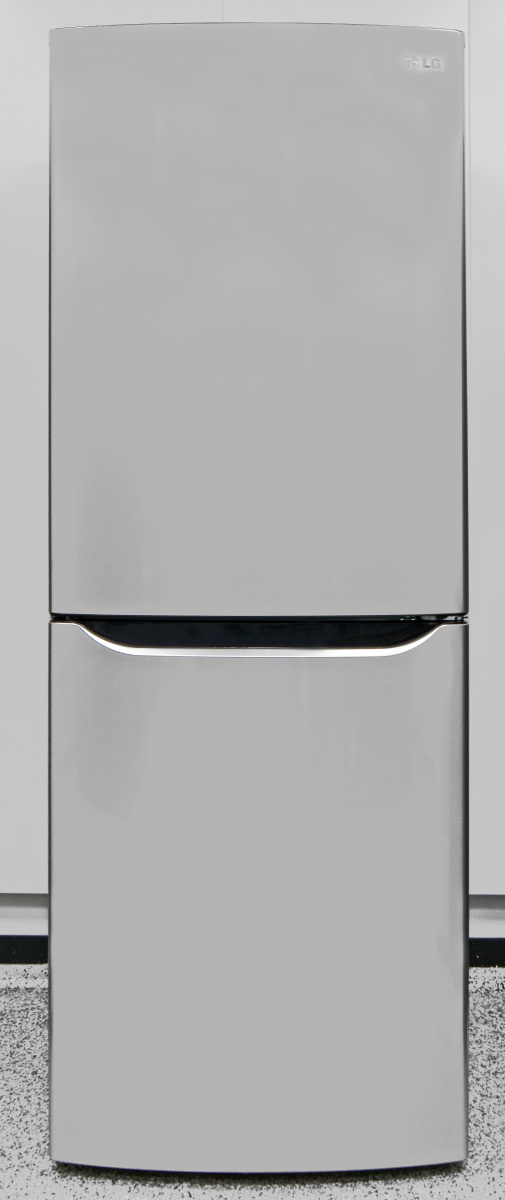 The reflective, stainless finish gives this affordable apartment fridge a  high-end feel.