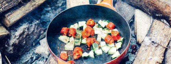 Cooking outdoors hero