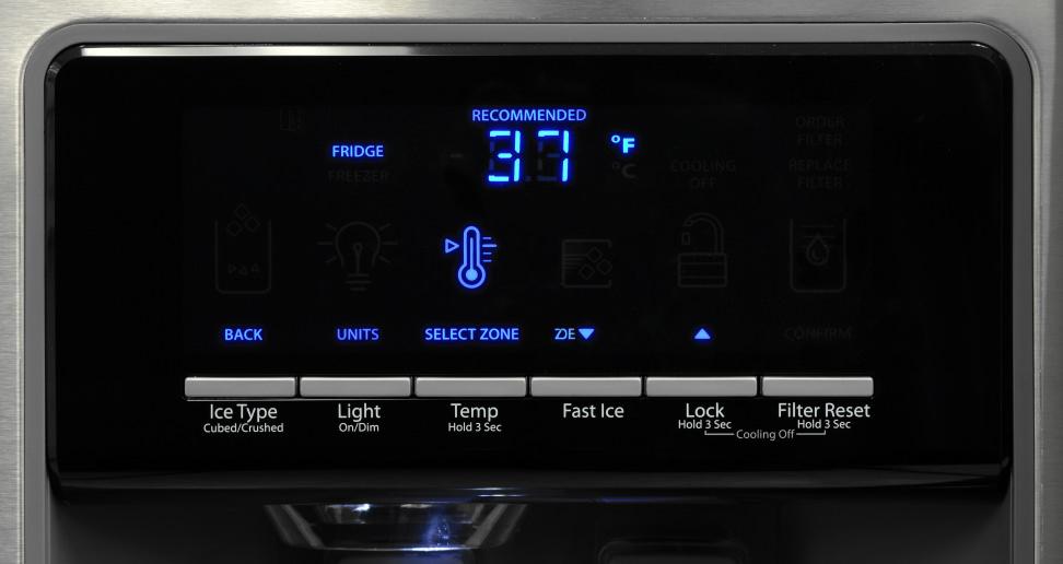 Whirlpool WRS571CIDM Controls