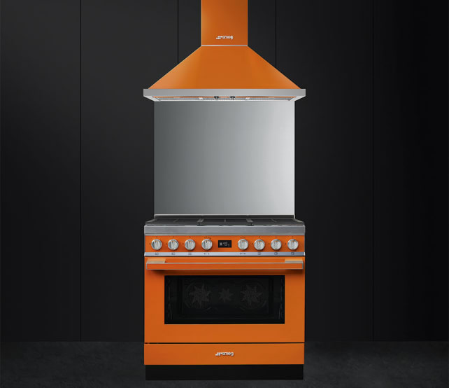 Smeg Portofino Range in Orange