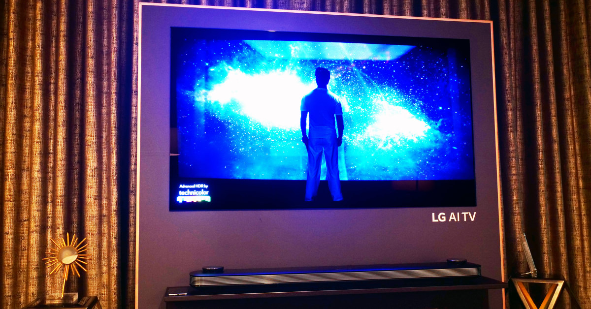 lg w8 oled tv review oled65w8 oled77w8 televisions. Black Bedroom Furniture Sets. Home Design Ideas