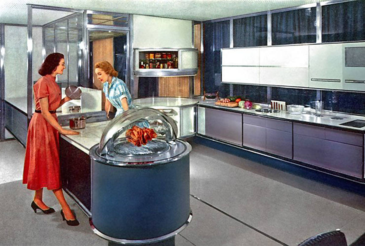 These brands make retro themed kitchen appliances for 60s kitchen ideas
