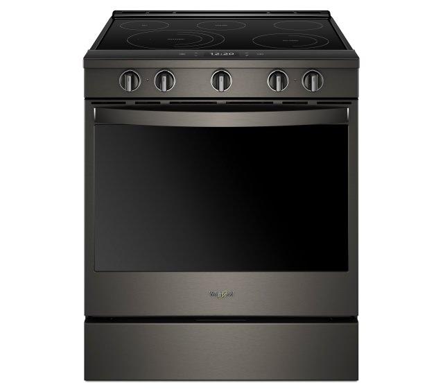 Whirlpool black stainless steel range