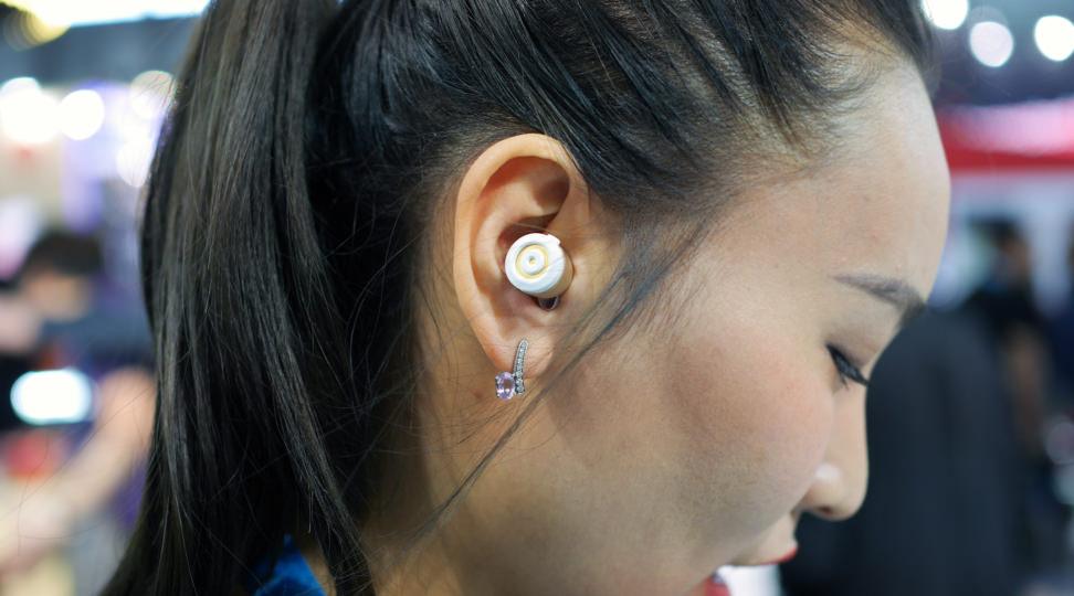 Erato Apollo 7 wireless headphones in ear