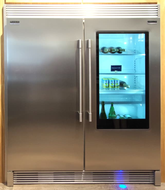 Six things you can now do with a refrigerator door because its put up privacy glass frigidaire professional see through fridge planetlyrics Image collections