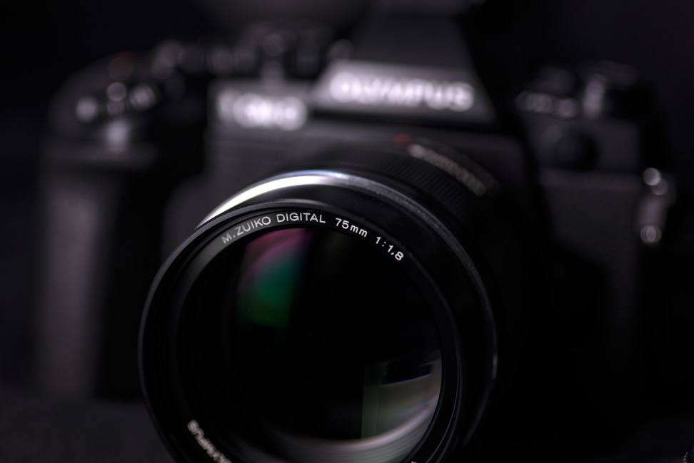 Olympus 75mm f/1.8 — From the Front