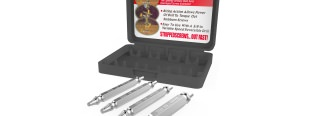 Stripped screw extractor kit