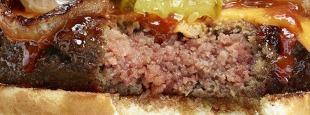 Impossible cheeseburger hero