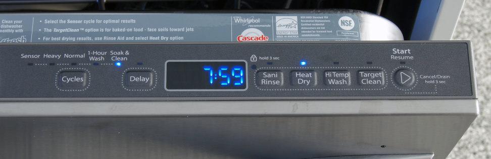Whirlpool WDT920SADM—Controls