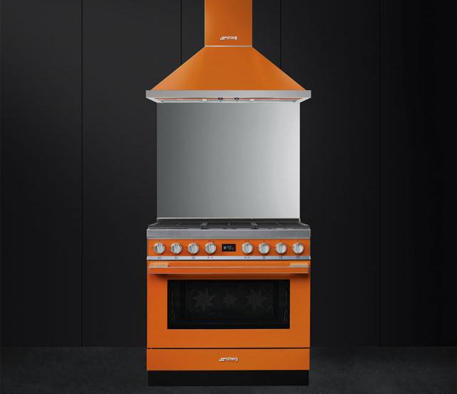 Smeg Portofino Range in Orange