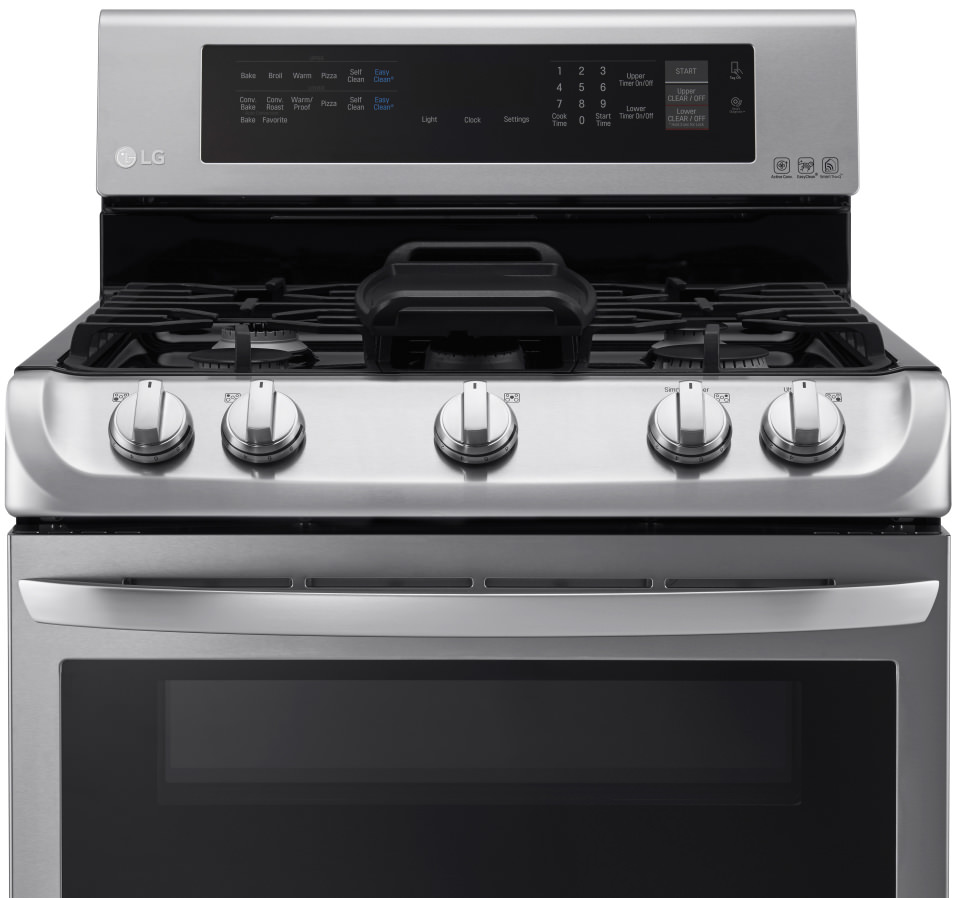 Lg ldg4315st double oven gas range review ovens - Gas stove double oven reviews ...