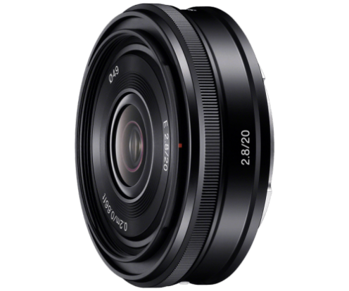 Product Image - Sony E 20mm f/2.8 E-mount Prime Lens