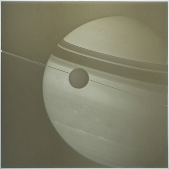 Saturn lithophane