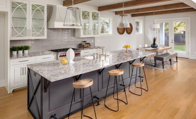 White-kitchen-gray-island