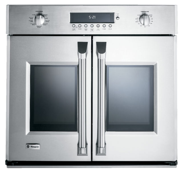 GE French door wall oven