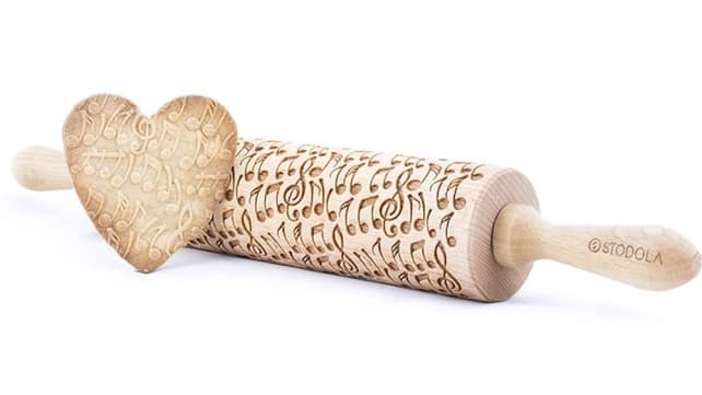 Crazy Notes, Engraved Rolling Pin