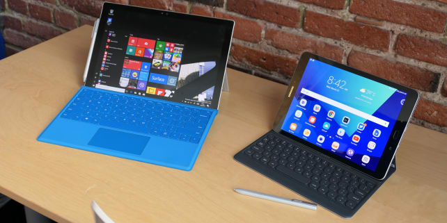 Samsung Galaxy Tab S3 and Surface Pro 4