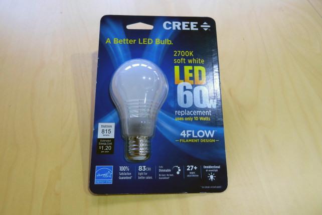 The Cree 60W Replacement LED Bulb