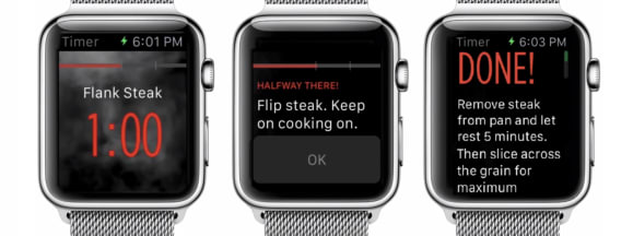 Epicurious apple watch smart timer