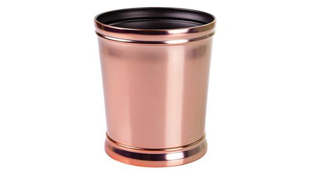 mDesign Rose Gold Trash Can