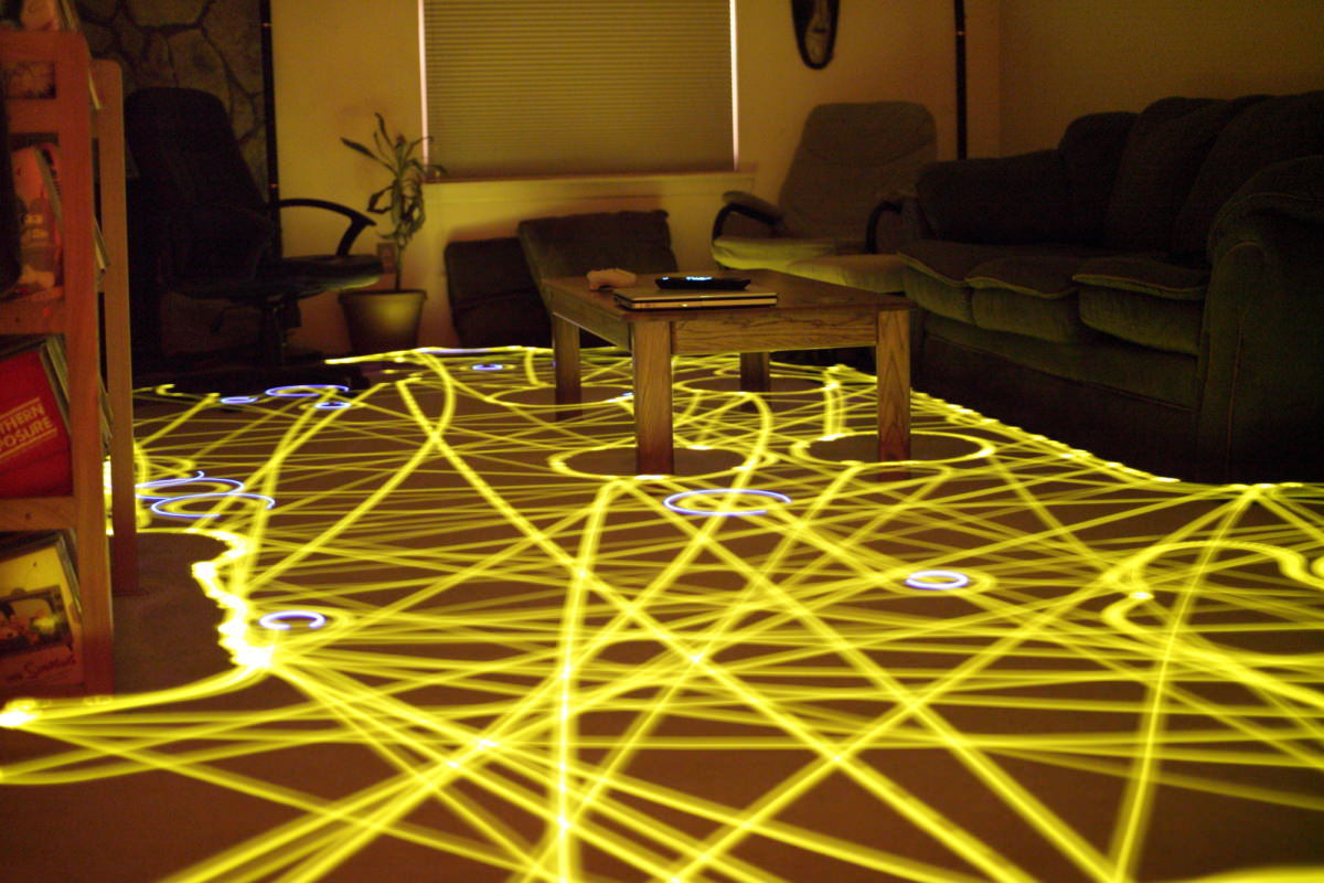 This long exposure perfectly demonstrates the cleaning path of your  standard robot vacuum.