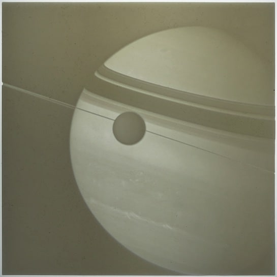 Saturn lithophane