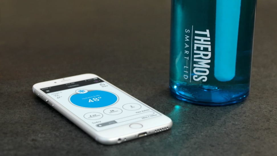 Thermos Hydration Bottle with Connected Smart Lid