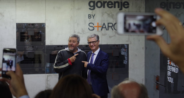 Philippe Starck for Gorenje and CEO Franjo Bobinac