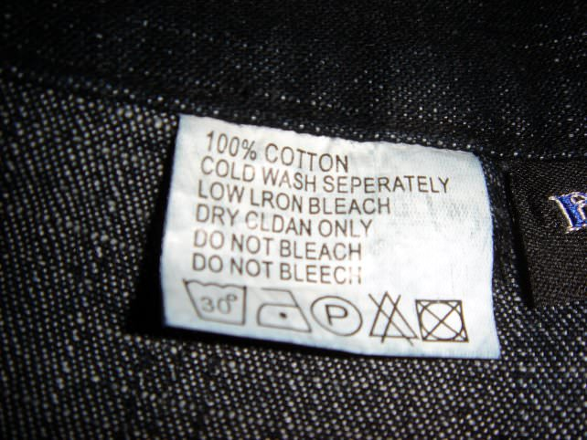 Laundry Care Instructions