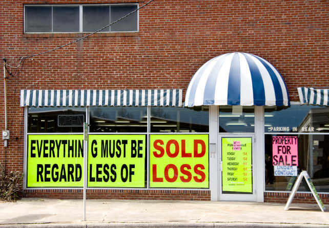 Small retailers sometimes sell their own stock