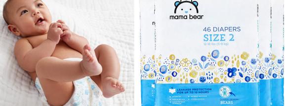 Baby diapers hero